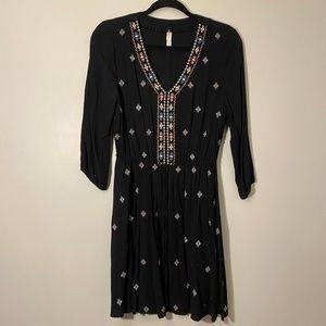 Xhilaration | Black Embroidered Dress Size M